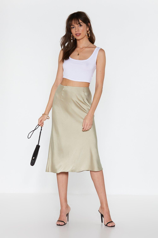 Sleek Havoc Bias Cut Satin Skirt | Nasty Gal