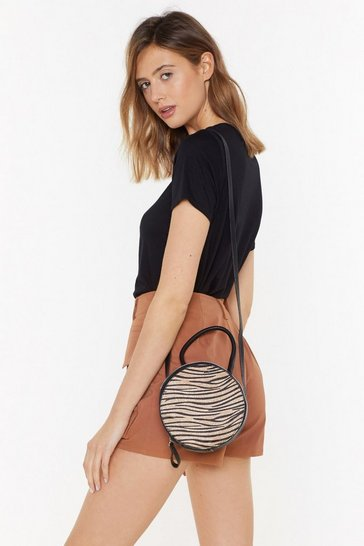 Womens Black WANT In Your Wildest Dreams Animal Crossbody Bag