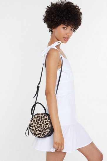 Womens Leopard WANT In Your Wildest Dreams Animal Crossbody Bag