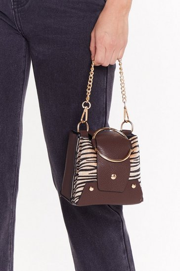 Womens Black WANT Against the Structure Animal Chain Bag