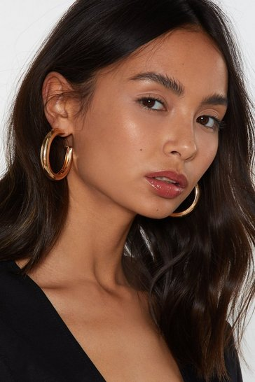 One Size Small Gold Hoop Earrings