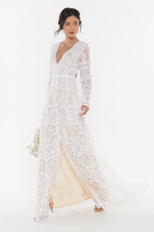 Crochet Wedding Dress.Bride It Out Bridal Crochet Dress Shop Clothes At Nasty Gal