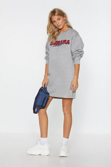 Womens Grey Indiana the Zone Sweatshirt Dress