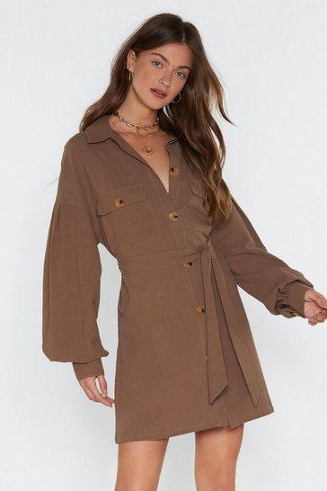 5812c579253d Get Button With It Linen Shirt Dress