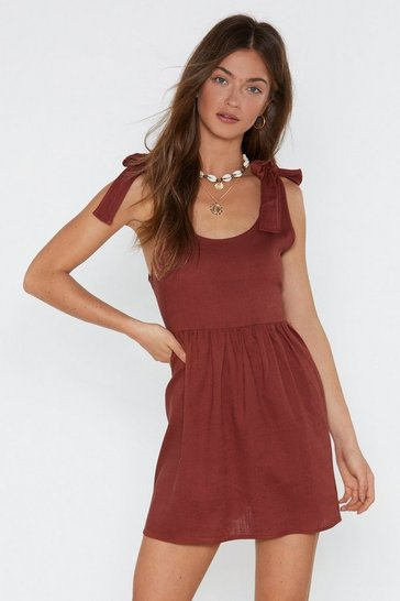 Womens Clay Tie Me a River Mini Dress