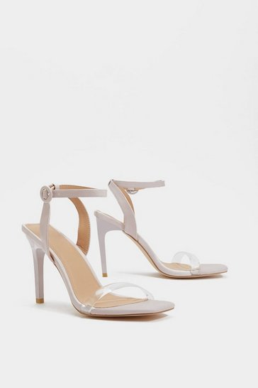 Womens Lilac Square Breed Strappy Heel