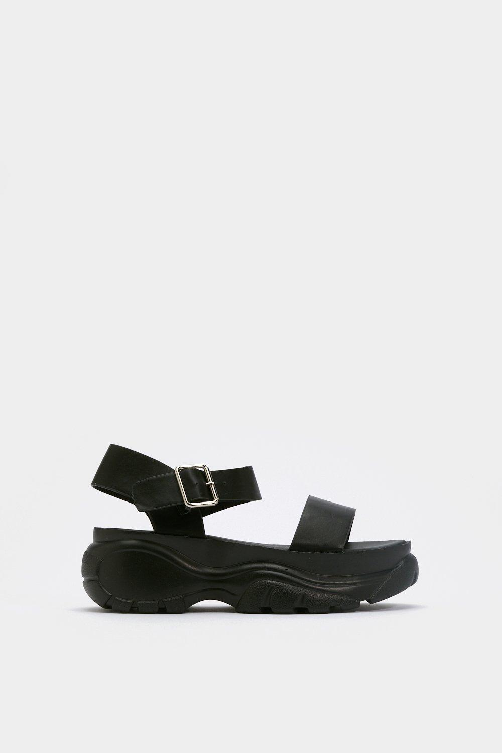 Strappy and You Know It Chunky Platform Sandals | Shop Clothes at Nasty Gal!