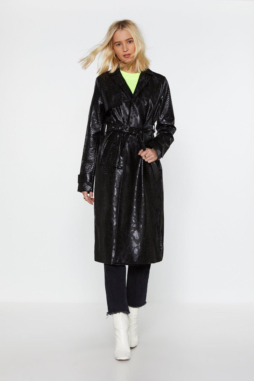 22de0ae34 Croc 'Em Dead Faux Leather Trench Coat | Shop Clothes at Nasty Gal!