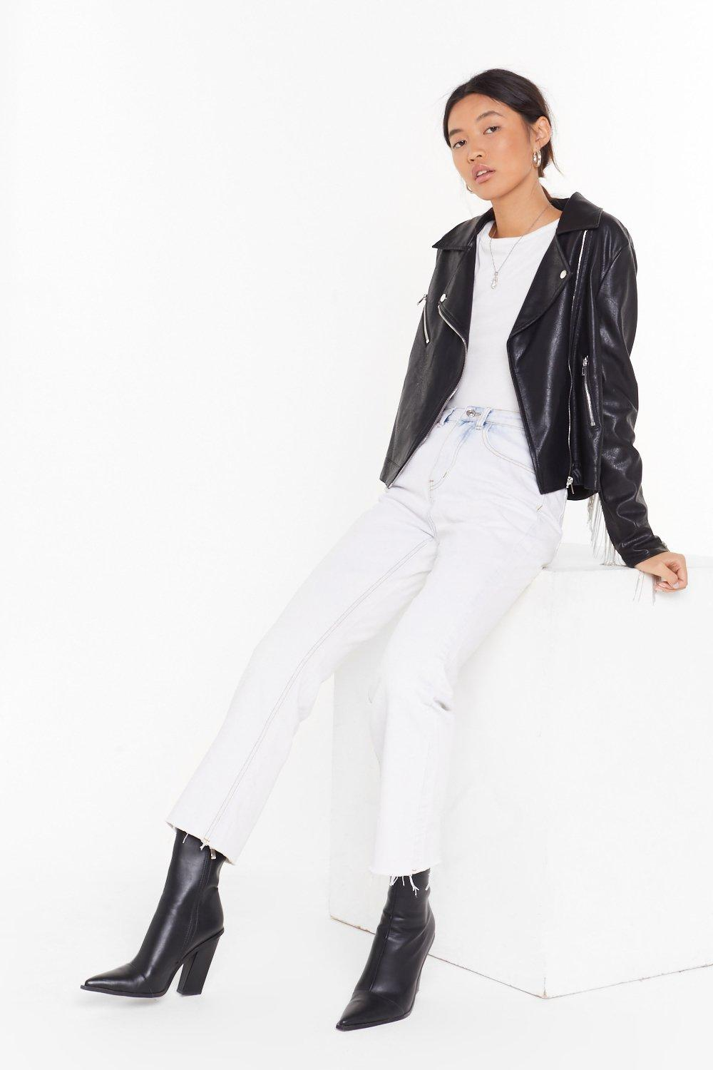 Give It To Me Straight Raw Jeans by Nasty Gal
