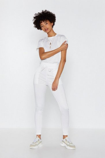 Womens Cream You and Me Tee and Joggers Set