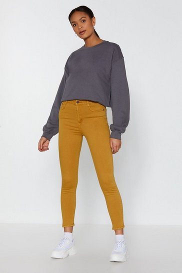Womens Mustard Close to You Skinny Jeans