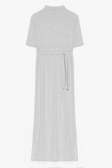 Grey marl Tee BT Belted Midi Dress