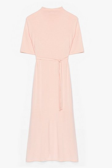 Nude Tee BT Belted Midi Dress
