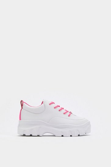 Womens Pink Neon the Wiser Chunky Trainers