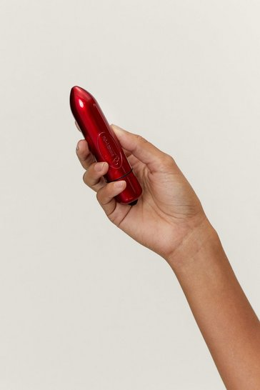 Red It's Our Pleasure Metallic Vibrator