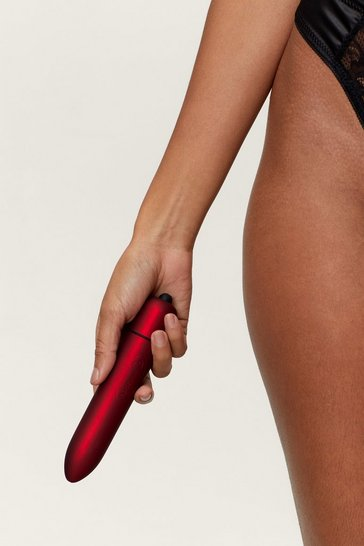 Red It's Our Pleasure Matte Vibrator