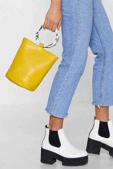 Womens Mustard WANT Really Resin-ates With Us Bucket Bag