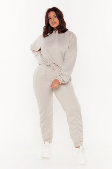 Womens Camel Love You Jumper and Joggers Set