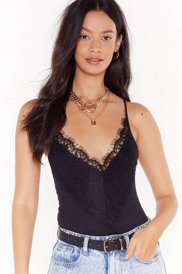 Black Lace Be Friends Bodysuit
