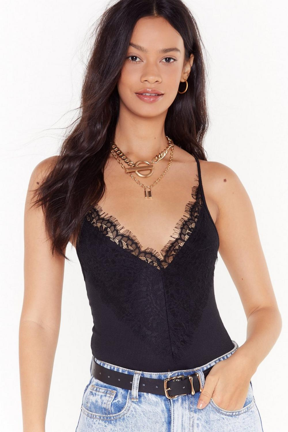 Lace Be Friends Bodysuit by Nasty Gal