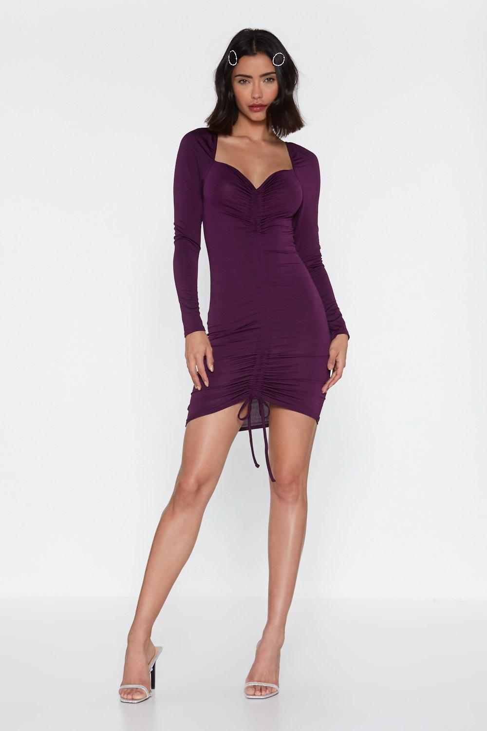 Let's Get Loud Ruched Mini Dress by Nasty Gal