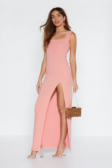 Womens Rose Square With Me Maxi Dress