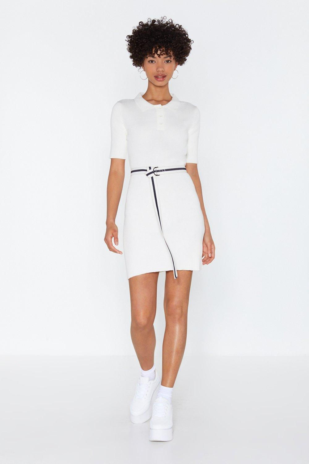 Going Polo Knit Mini Dress by Nasty Gal