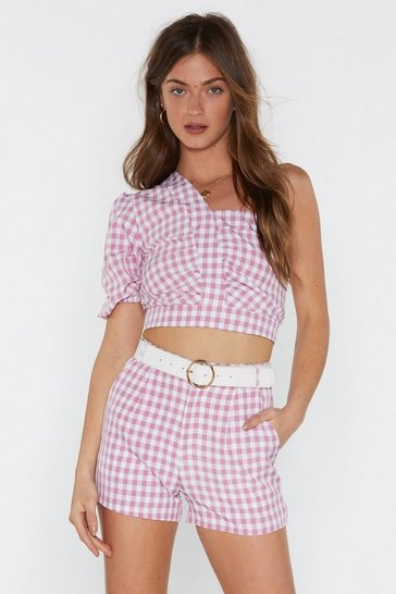 Womens Pink Gingham the Goods Shorts