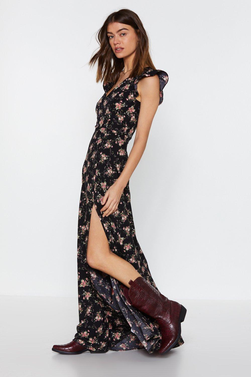 Flower Down On Me Maxi Dress by Nasty Gal
