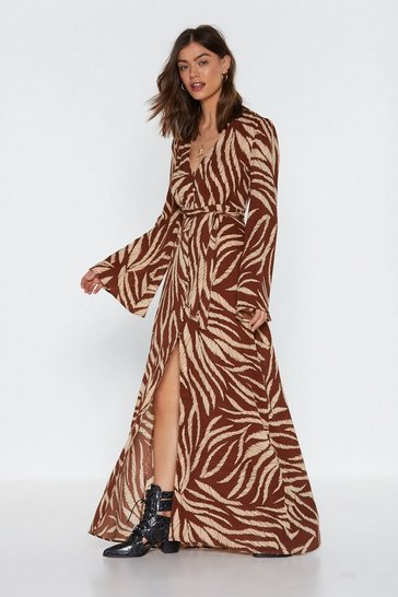 Womens Tan Without Feather Ado Maxi Dress