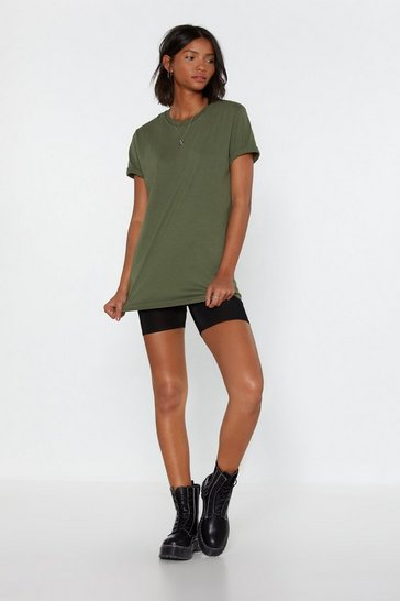 Womens Khaki Dream Team Tee and Biker Shorts