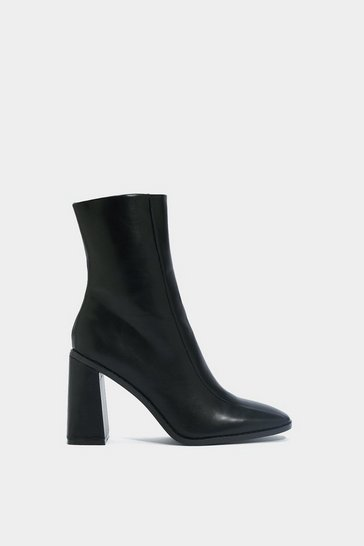 Black Square Up Sock Boot