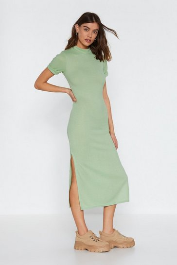 Womens Sage Here's the Tee Maxi Dress