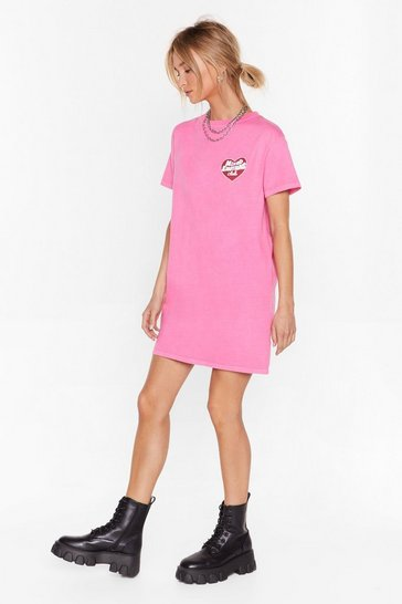 Pink Mixed Emotions Relaxed Tee Dress