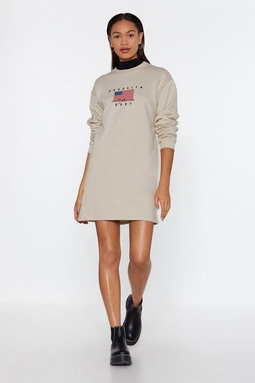 Womens Stone Brooklyn Baby Sweatshirt Dress