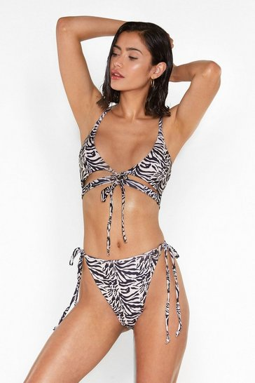 Womens Cream Feel That Ze-Breeze High-Leg Bikini Set
