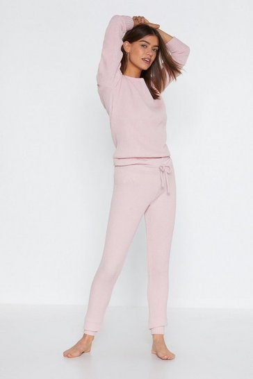 Pink Serious Chills Sweater and Joggers Lounge Set