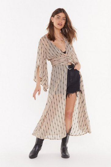 Womens Mocha In It For the Long Haul Longline Blouse