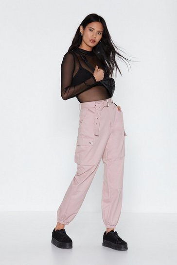 Womens Blush Got to Cargo Belted Pants