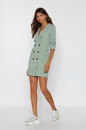 Womens Sage This Suits Me Just Fine Corduroy Blazer Dress