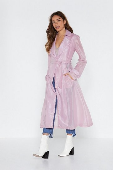Pink Long Way Down Organza Trench Coat