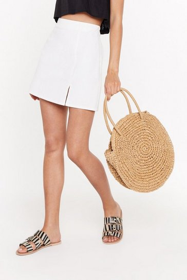 Womens Tan WANT Another Round Woven Bag
