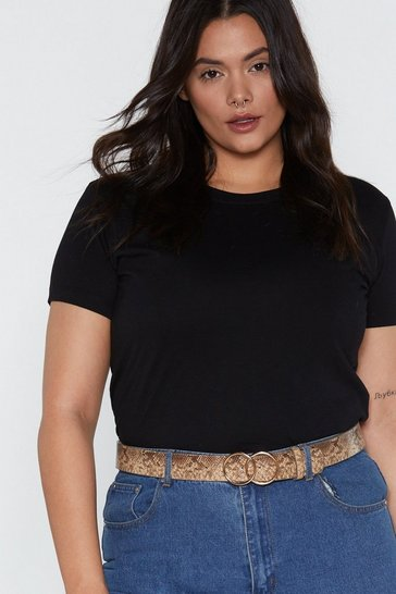 Womens Natural What's Hiss About Snake Circle Belt