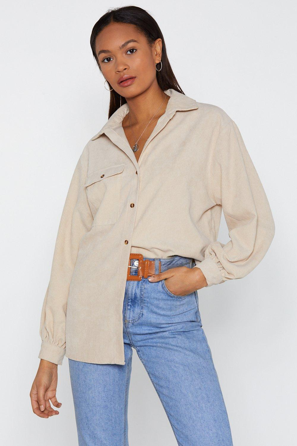 Easy There Plus Oversized Corduroy Shirt 6