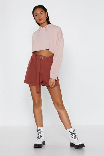 Womens Terracotta Short Run Tailored High-Waisted Shorts