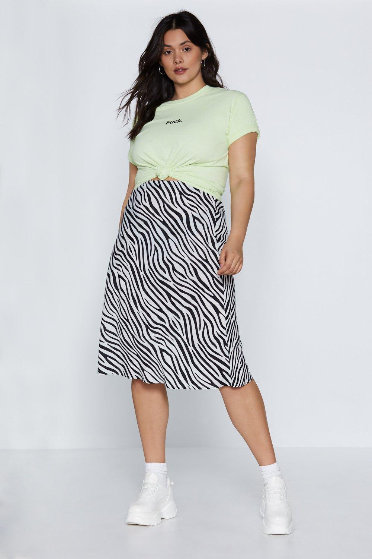 Zebra Satin Skirt
