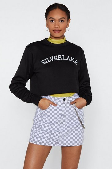 Womens Black See Me in Silverlake Cropped Jumper