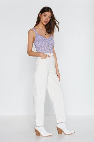 Womens White Cord Trousers