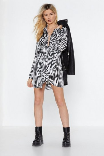 Womens Ivory Our Stripe of Girl Zebra Dress