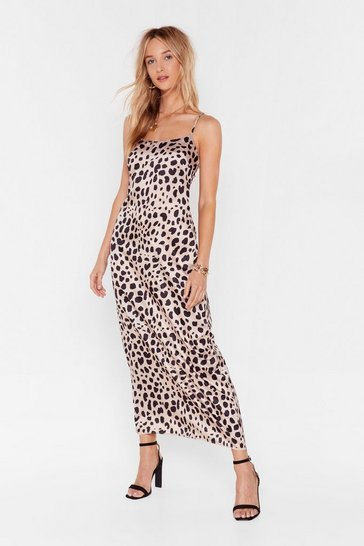 Womens Champagne Paws and Reflect Dalmatian Slip Dress